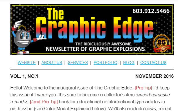 the graphic edge screenshot