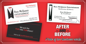 Russ McQueen Business Card
