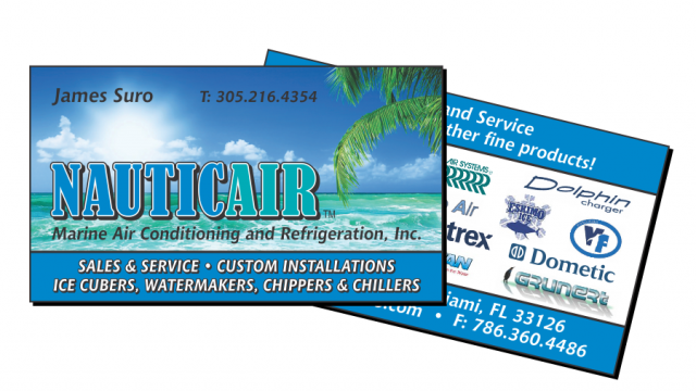 NauticAir Logo and Business Card Design