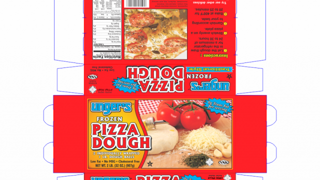Unger's Pizza Dough Box Design
