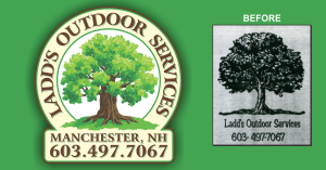 Ladd's Outdoor Services Logo Graphic Explosions